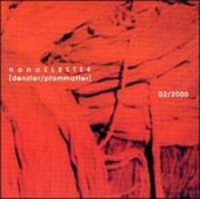 Nanocluster 02-2000 - CD Audio di Bertrand Denzler,Norbert Pfammatter