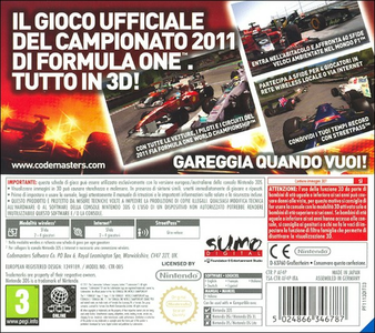 Videogioco F1 2011 Nintendo 3DS 5