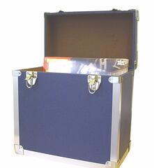 Vinyl Accessories: Navy. 50 Lp Record Storage Carry Case