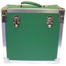 Vinyl Accessories: Green. 50 Lp Record Storage Carry Case