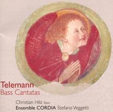 Cantate per basso - CD Audio di Georg Philipp Telemann,Christian Hilz