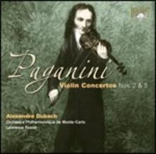 Concerti per violino n.2, n.5 - CD Audio di Niccolò Paganini