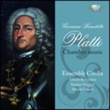 Musica da camera - CD Audio di Giovanni Benedetto Platti,Ensemble Cordia
