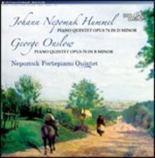 Quintetto con fortepiano op.74 / Quintetto con fortepiano op.70 - CD Audio di Johann Nepomuk Hummel,George Onslow,Nepomuk Fortepiano Quintet
