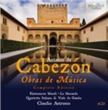 Obras De Musica (Integrale) - CD Audio di Antonio de Cabezón