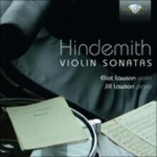 Sonate per violino - CD Audio di Paul Hindemith
