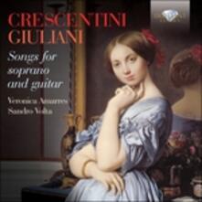 Opere vocali per soprano e chitarra - CD Audio di Mauro Giuliani,Girolamo Crescentini