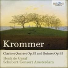 Quartetto con clarinetto op.83 - Quintetto op.95 - CD Audio di Franztisek Vincenc Krommer