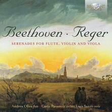 Serenate per flauto, violino e viola - CD Audio di Ludwig van Beethoven,Max Reger