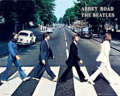 Poster Abbey Road Beatles 40x50 Cm.