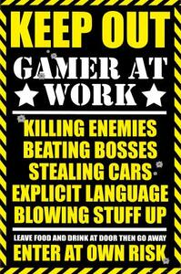 Poster Gaming. Keep Out 61x91,5 cm.