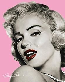 Poster Marilyn Monroe. Pink Lips 40x50 cm.