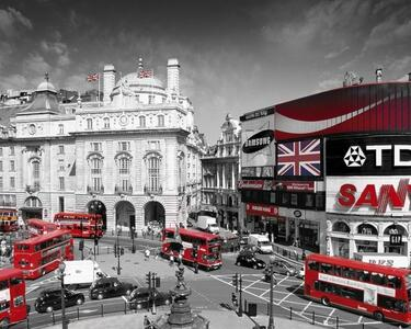 Poster London. Piccadilly Circus 40x50 cm.