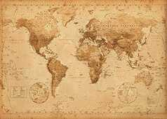 Idee regalo Poster World Map. Antique Style 100x140 cm. GB Eye