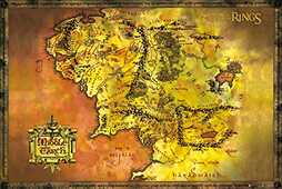 Idee regalo Poster Lord Of The Rings. Classic Map 61x91,5 cm. GB Eye