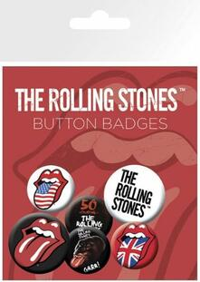 Badge Pack The Rolling Stones. Lips