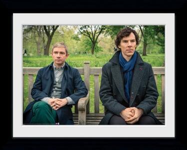 Foto in cornice Sherlock. Park Bench