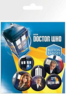 Badge Pack Doctor Who. New