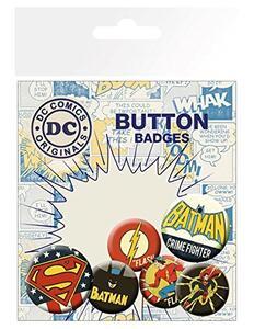 Badge Pack DC Comics. Retro