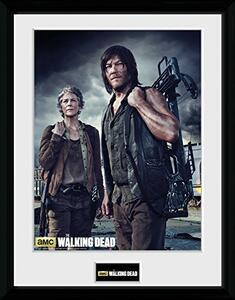 Stampa In Cornice 30x40 cm. Carol And Daryl. Walking Dead