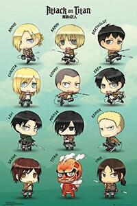 Poster Attack On Titan. Chibi Characters 61x91,5 cm.