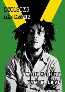 Poster Bob Marley. Collage 61x91,5 Cm.