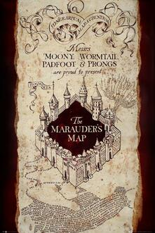 Poster Harry Potter. Marauders Map 61x91,5 cm.