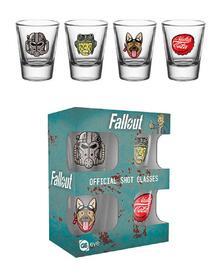 Set 4 Bicchieri Piccoli Fallout 4. Icon Shot Glasses Set