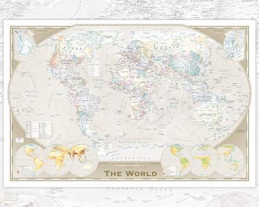 Poster World Map. Tripel Projection 40x50 cm.