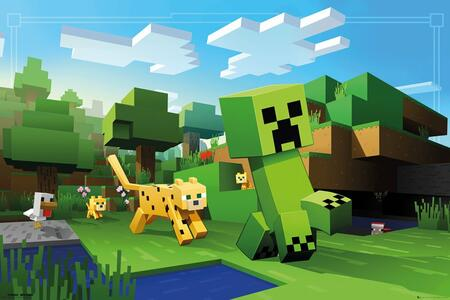 Poster Minecraft. Ocelot Chase 61x91,5 cm.