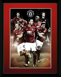Stampa in Cornice Manchester United. Players 16/17