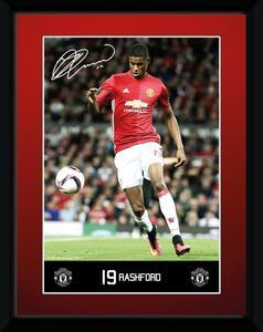 Stampa In Cornice 15x20 cm. Manchester United. Rashford 16/17