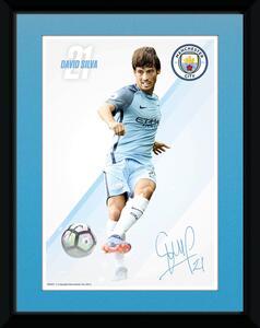 Stampa In Cornice 15x20 cm. Manchester City. Silva 16/17