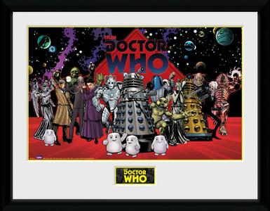 Stampa In Cornice 30x40 cm. Doctor Who. Villains Landscape