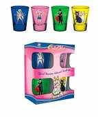 Idee regalo Sailor Moon. Characters Set 4 Bicchieri Piccoli Import