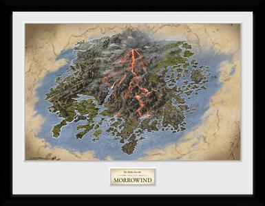 Stampa in cornice 30 x 40 cm Elder Scrolls Online Morrowind. Map