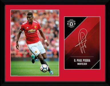 Stampa In Cornice 30X40 Cm Manchester United. Pogba 17/18