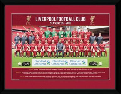 Stampa In Cornice 30x40cm Liverpool. Team Photo 17/18