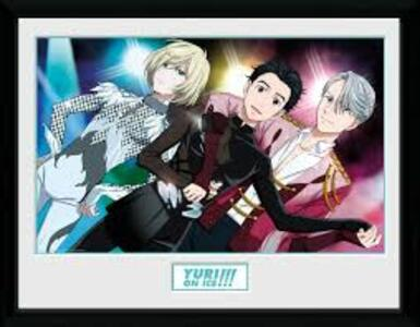 Stampa In Cornice 30x40cm Yuri On Ice. Trio