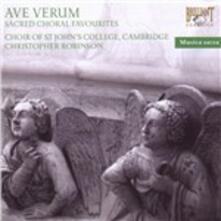 Ave Verum. Sacred Choral Favourites - CD Audio