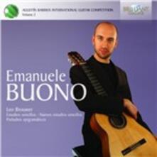 Estudios sencillos - Preludios epigramati - CD Audio di Leo Brouwer,Emanuele Buono