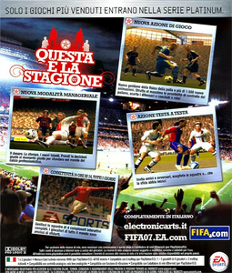 Videogioco FIFA 07 PlayStation2 6