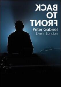 Peter Gabriel. Back to Front Live di Hamish Hamilton - DVD