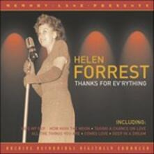 Thanks For Ev'Rything - CD Audio di Helen Forrest