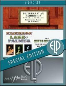 Emerson, Lake & Palmer. Pictures At An Exhibition. Birth Of A Band. Live A (3 DVD)