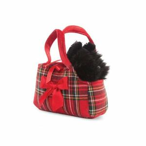 Animali In Borsetta. Scottie In Tartan Bag 22 Cm
