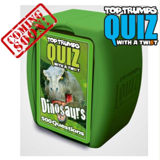 Image of Top Trumps Quiz. Dinosaurs. Ed. Italiana. Gioco da tavolo