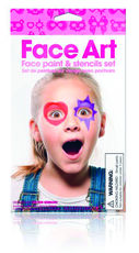 Idee regalo Set Stencil e colori Face Art Girl Trading Group