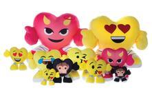 Emoticon Emoji. Peluche Cuore Smiley Con Braccia E Gambe 30 Cm