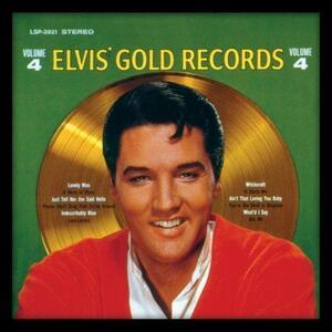 Cornice con stampe Elvis Presley. Gold Records